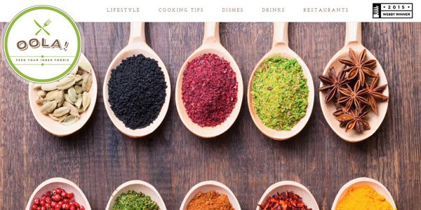 Top 50 most appetizing designs for food websites oola forumfinder Choice Image