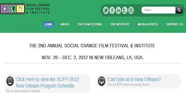 Social Change Movie Festival in New Orleans SCFFI