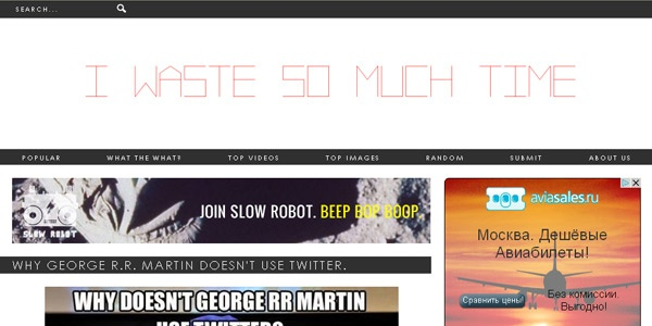 Time wasters websites