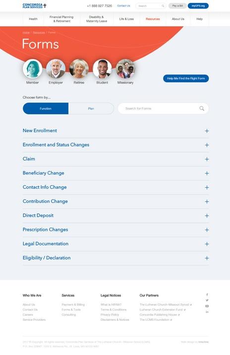 Insurance UX Website Design Case Study - Psychology of Shapes - Page 1