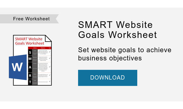 Free Worksheet   SMART Website Goals Worksheet  Set website goals to achieve business objectives  DOWNLOAD