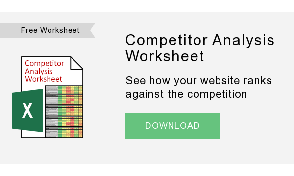 Free Worksheet   Competitor Analysis Worksheet  See how your website ranks against the competition  DOWNLOAD