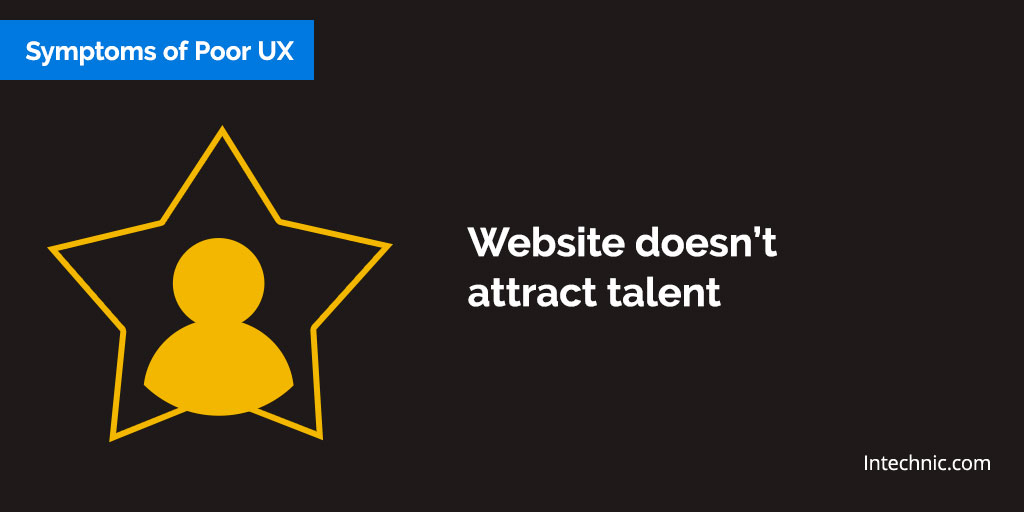 Website doesn't  attract talent