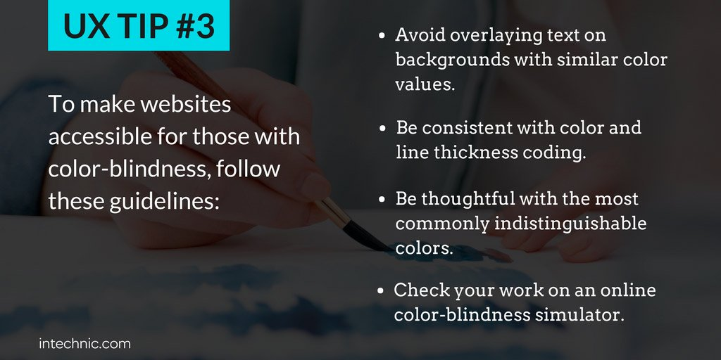 Tips to make websites accessible for those with color-blindness