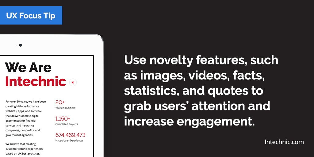 Use novelty to engage users