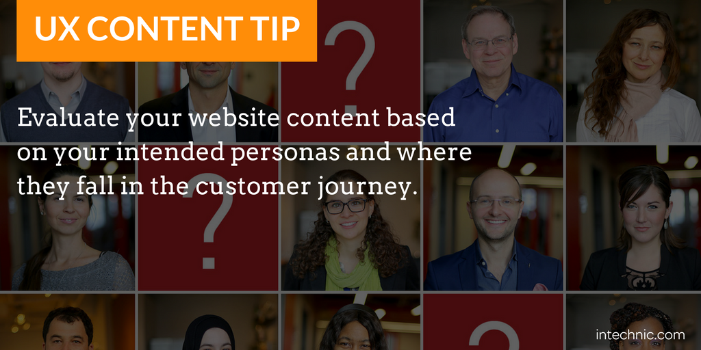Evaluate your website content based on your intended personas and customer journey.png