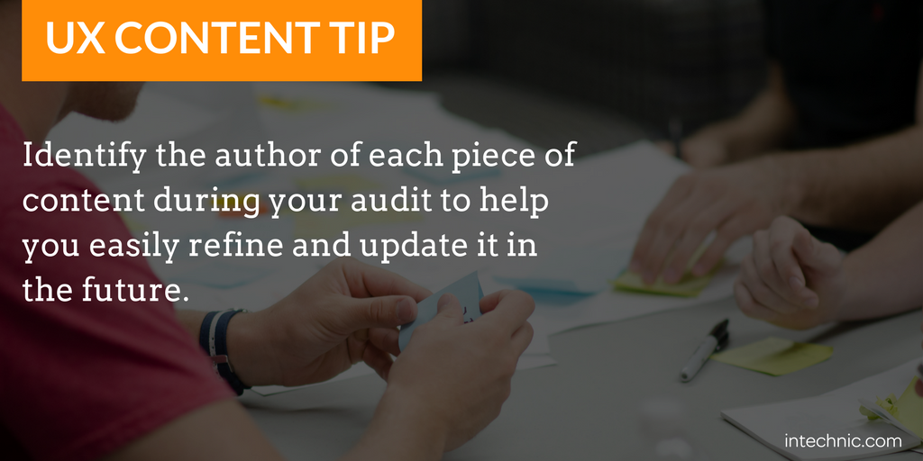 Identify the author of each piece of content during your audit.png