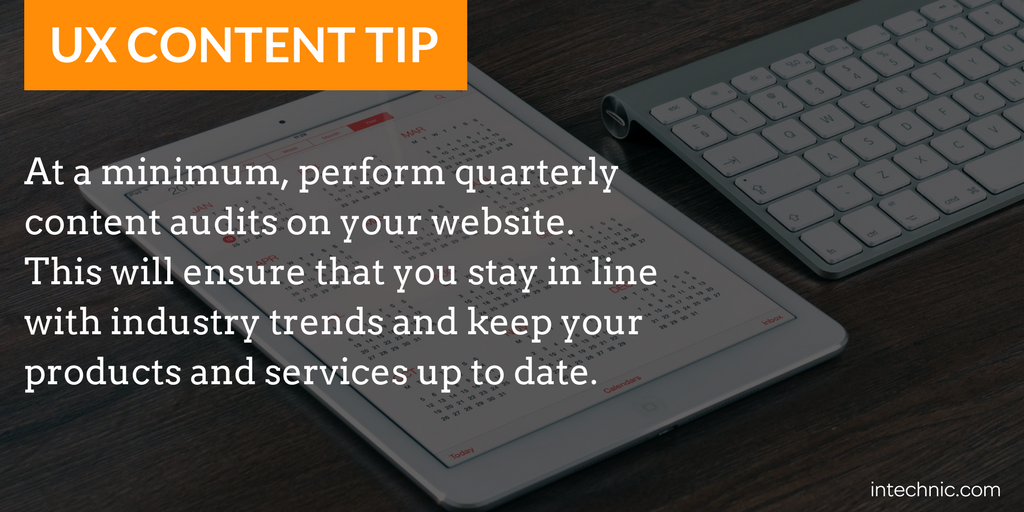 Perform quarterly content audits on your website.png