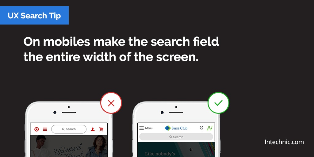 On mobiles, make the search field the entire width of the screen