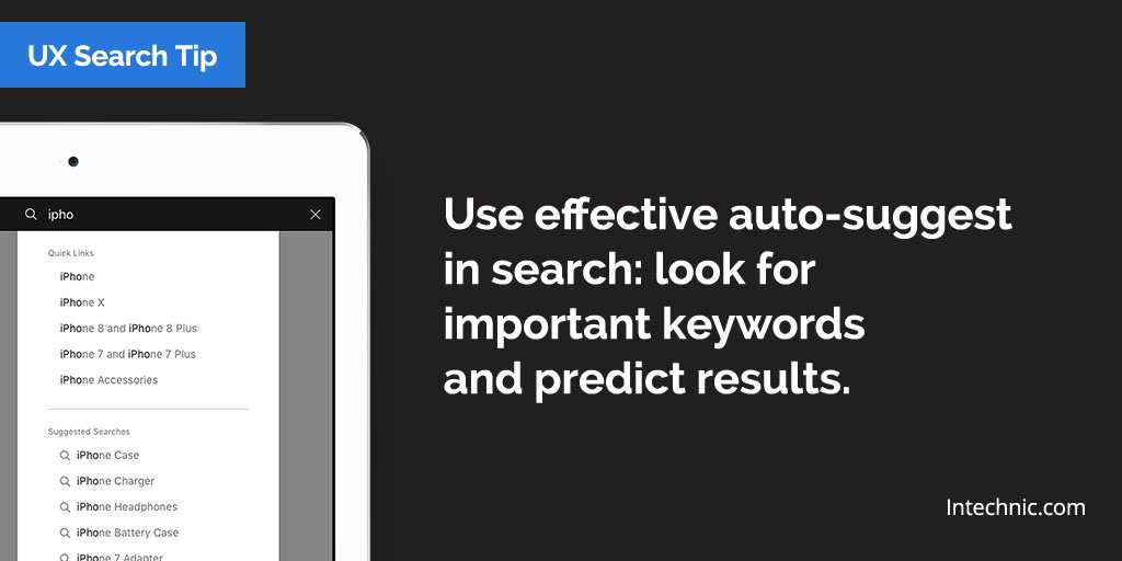 Use effective auto-suggest in search