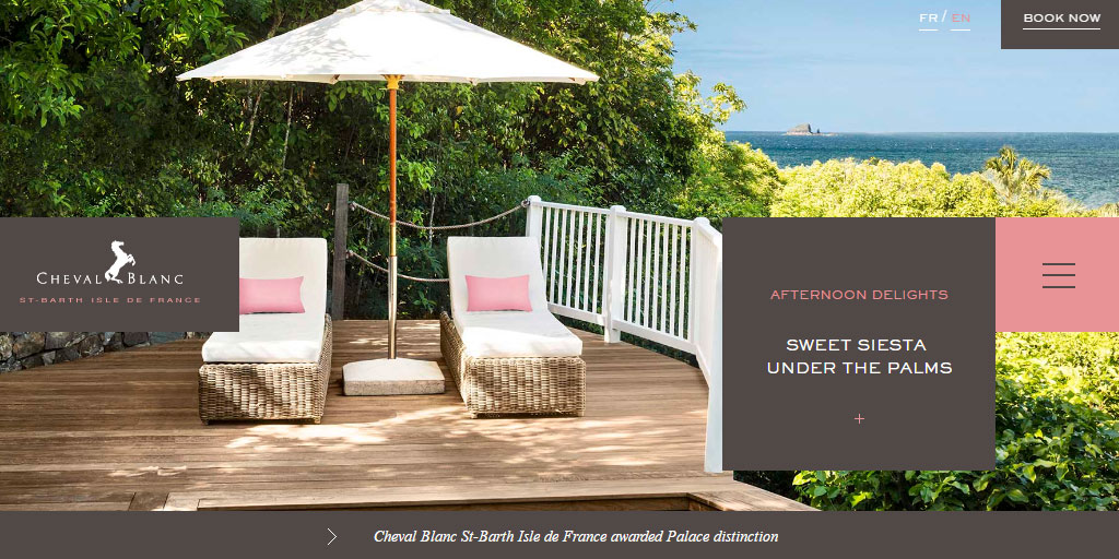 Luxury hotel  in St Barths by LVMH Hotel Management